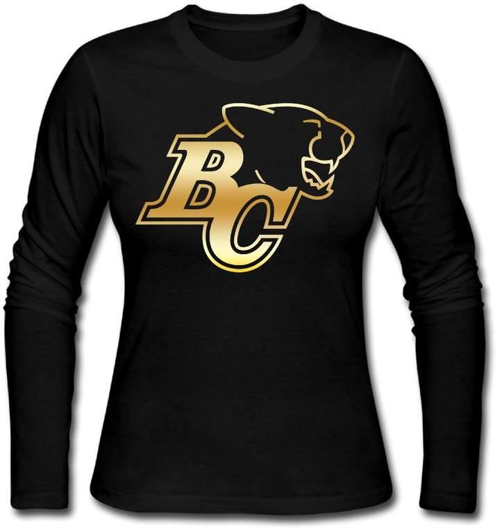 Sarah Women's BC Lions Canadia Football Team Long Sleeve T-shirt