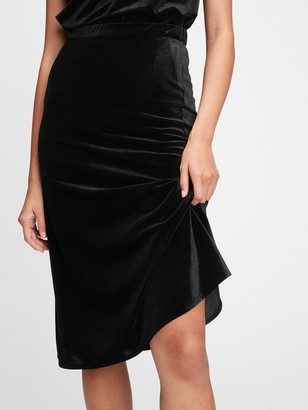 Gap Velvet Slip Skirt