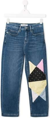 Calvin Klein Kids TEEN patchwork jeans