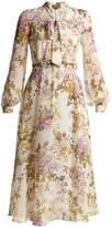 Giambattista Valli Felche Fiori-print silk-georgette dress
