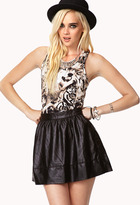 FOREVER 21 A-Line Faux Leather Skirt
