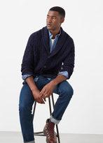 MANGO MAN Cotton Wool-Blend Cardigan