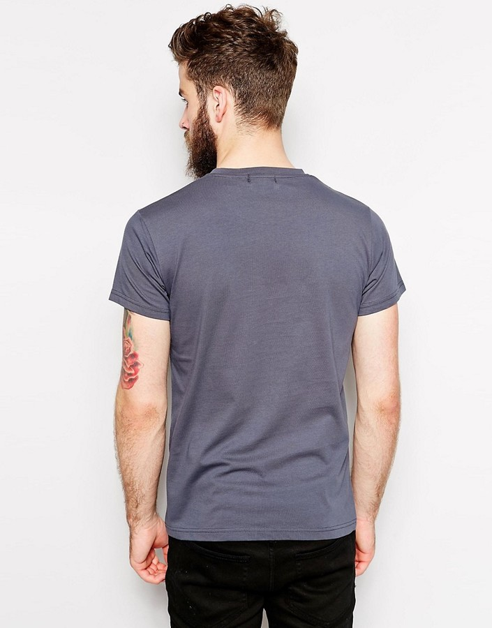 Farah T-Shirt with F Logo in Slim Fit