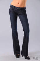 Paige Premium Denim Pico Flap Pocket Bootcut Jeans in Royal Sapphire