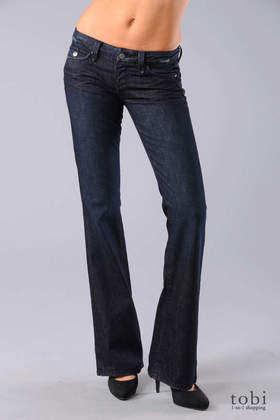 Paige Pico Flap Pocket Bootcut Jeans in Royal Sapphire
