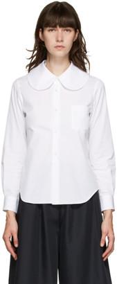 Comme des Garçons Comme des Garçons White Round Collar Shirt