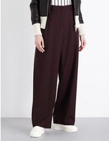 Aalto Pleated wide-leg stertch-wool trousers