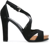 Tod's strappy platform sandals - women - Leather/Suede/rubber - 36