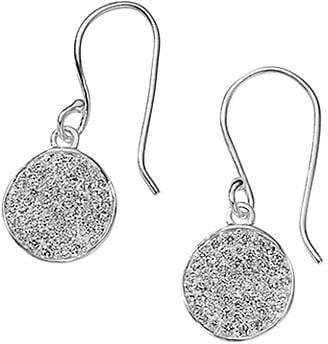 Ippolita Stardust Sterling Silver & Diamond Pave Mini Flower Drop Earrings