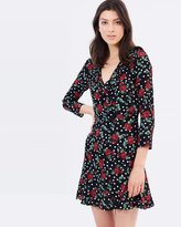 Mng Flowers Wrap Dress