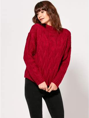 M&Co Turtleneck cable knit jumper