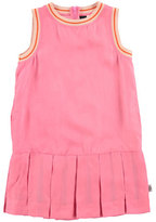 Molo Sleeveless Tipped Pleated Dress, Carnation Pink, Size 3-14