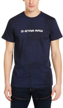 G Star Men's Rodis Tonal Tropical Logo T-Shirt