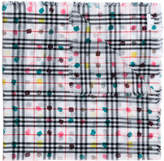 Burberry checked dotted scarf