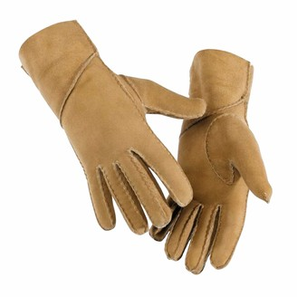 Eastern Counties Leather Womens/Ladies Long Cuff Sheepskin Gloves (XL) (Tan)