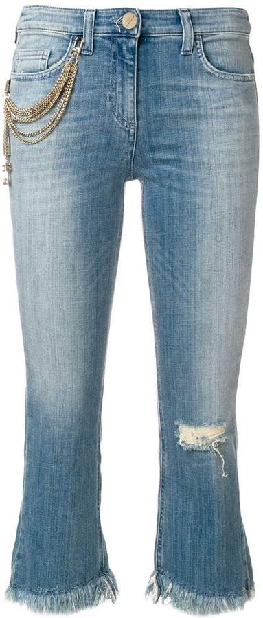 Elisabetta Franchi fringed hem jeans