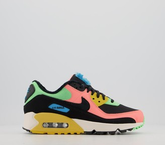 Nike 90 Trainers Atomic Pink Laser Blue Solar Flare