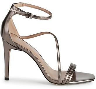 BCBGeneration Isabel Metallic Stiletto-Heel Sandals