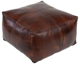 Surya Ameile Leather Pouf
