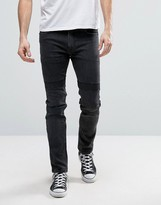 Religion Skinny Jeans With Engineered Knee