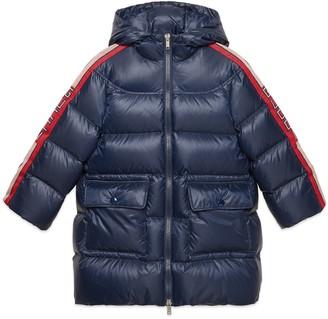 Gucci Children's nylon coat with stripe
