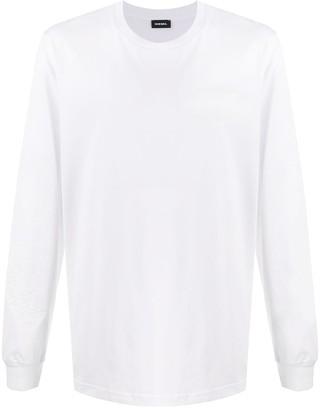 Diesel long sleeve logo T-shirt