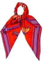 Hermes Couvertures et Tenues de Jour Cashmere and Silk Shawl