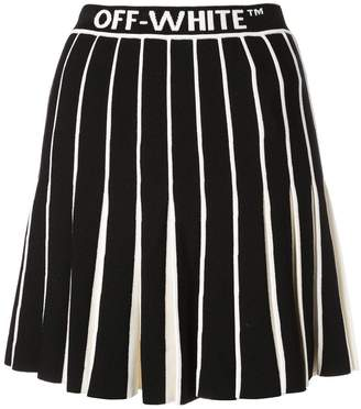 Off-White Off White contrasting pleated tennis skirt