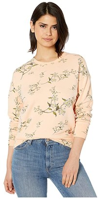 n:philanthropy Lauren Floral Printed French Terry Pullover Sweatshirt (Nude Sunset Ditsy) Women's Clothing