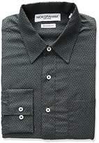 Nick Graham Men's Floral Poly Print Dress Shirt