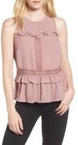 Willow & Clay Women's Sleeveless Ruffle Top