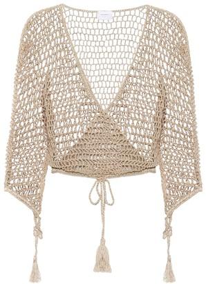 Anna Kosturova Cotton-crochet top