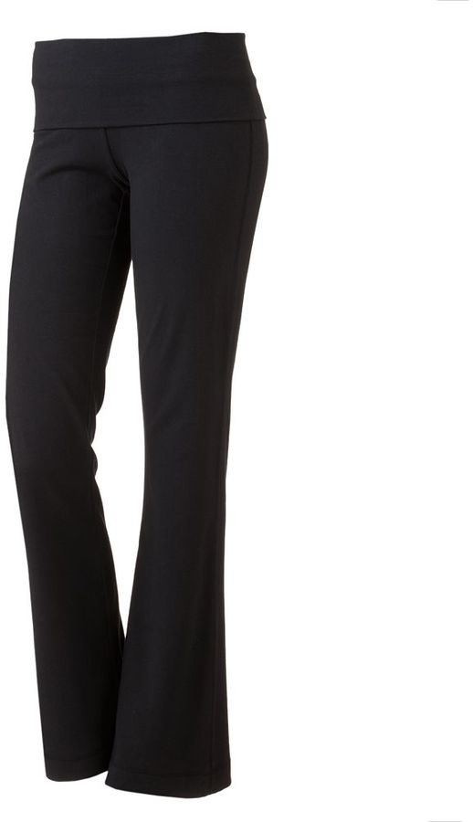 So ® skinny bootcut fold-over yoga pants - juniors
