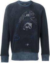 Diesel embroidered skull sweatshirt