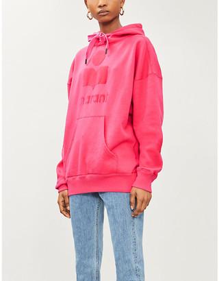 Etoile Isabel Marant Mansel logo-applique cotton-blend jersey hoody