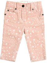 Stella McCartney Printed Stretch Cotton Corduroy Pants