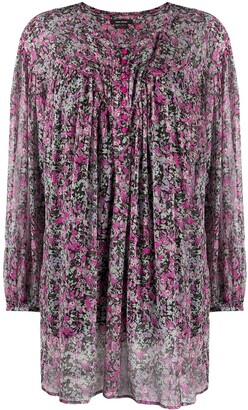 Isabel Marant Ditsy Print Long Sleeve Dress