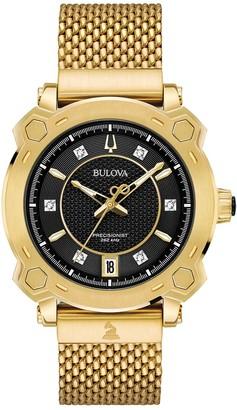 Bulova Women's GRAMMY Awards Special Edition Precisionist Diamond Mesh Watch - 97P124