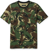 Rag & Bone Camouflage-print Cotton-jersey T-shirt - Green