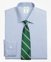 Brooks Brothers Milano Slim-Fit Dress Shirt, Non-Iron Two-Tone Houndstooth