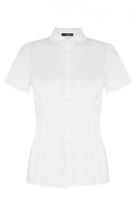 Quiz White Short Sleeve Blouse