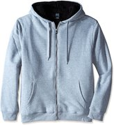 Southpole Men's Big-Tall Big and Tall Active Basic Hooded Full Zip Sherpa Fleece