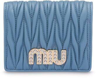 Miu Miu Matelasse quilted wallet