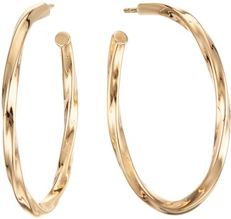 Lana Skinny Wave Twist Royale Hoop Earrings