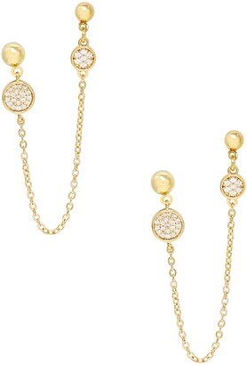 Ettika Chain Drop Double Post Earrings