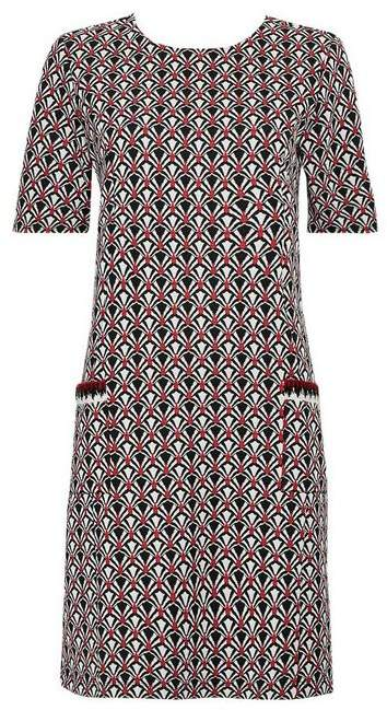 Wallis Grey Jacquard Pocket Shift Dress