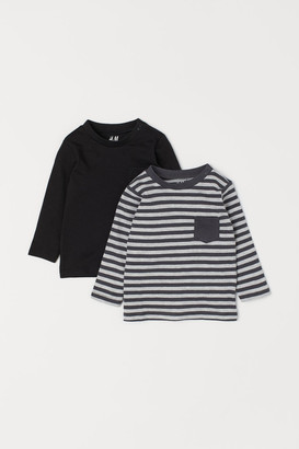 H&M 2-Pack Long-Sleeve Jersey Tops