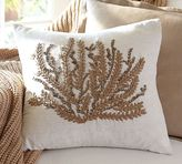 Pottery Barn Caicos Coral Embroidered Pillow Covers