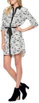 Juicy Couture Silk Landscape Print Shirt Dress