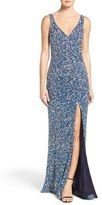 Mac Duggal Women's Sequin Slit Gown